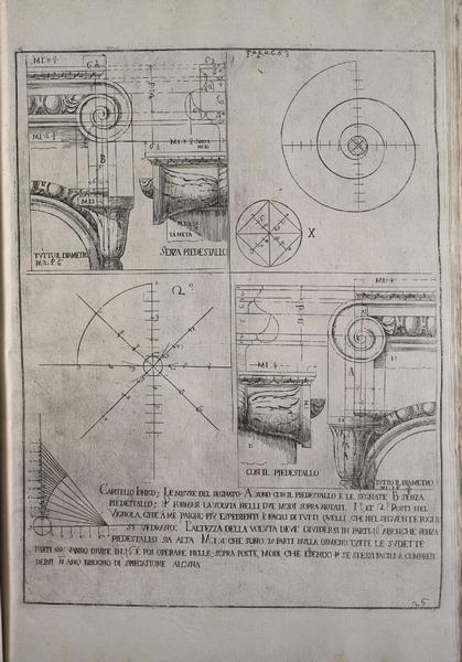Bibiena, ferdinando, 1657-1743., costruzione della voluta ionica